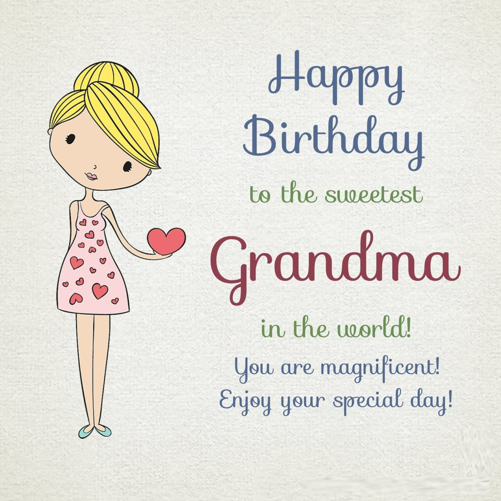 birthday card for grandmother with greetings wishes and