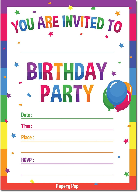 Free Birthday Invitation Templates Online - Printable ...
